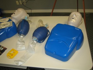 Basic life support and CPR training equipment