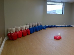 Calgary First Aid training room